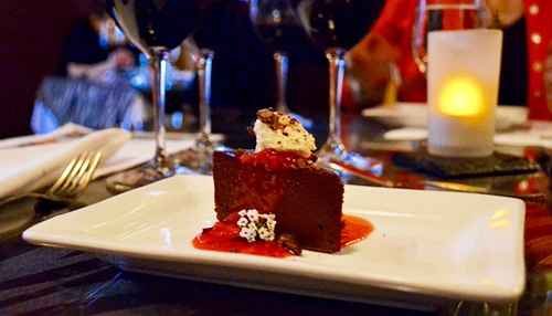 Chocolate Cherry Truffle Cake at COHO Restaurant