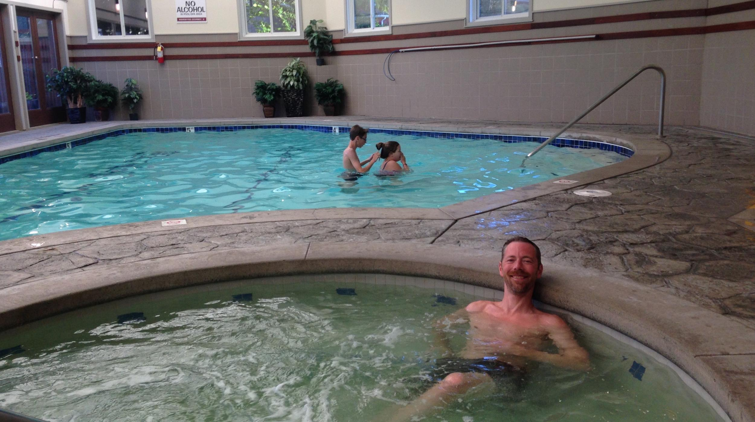 The Indoor Heated Pool at the Earthbox Inn & Spa