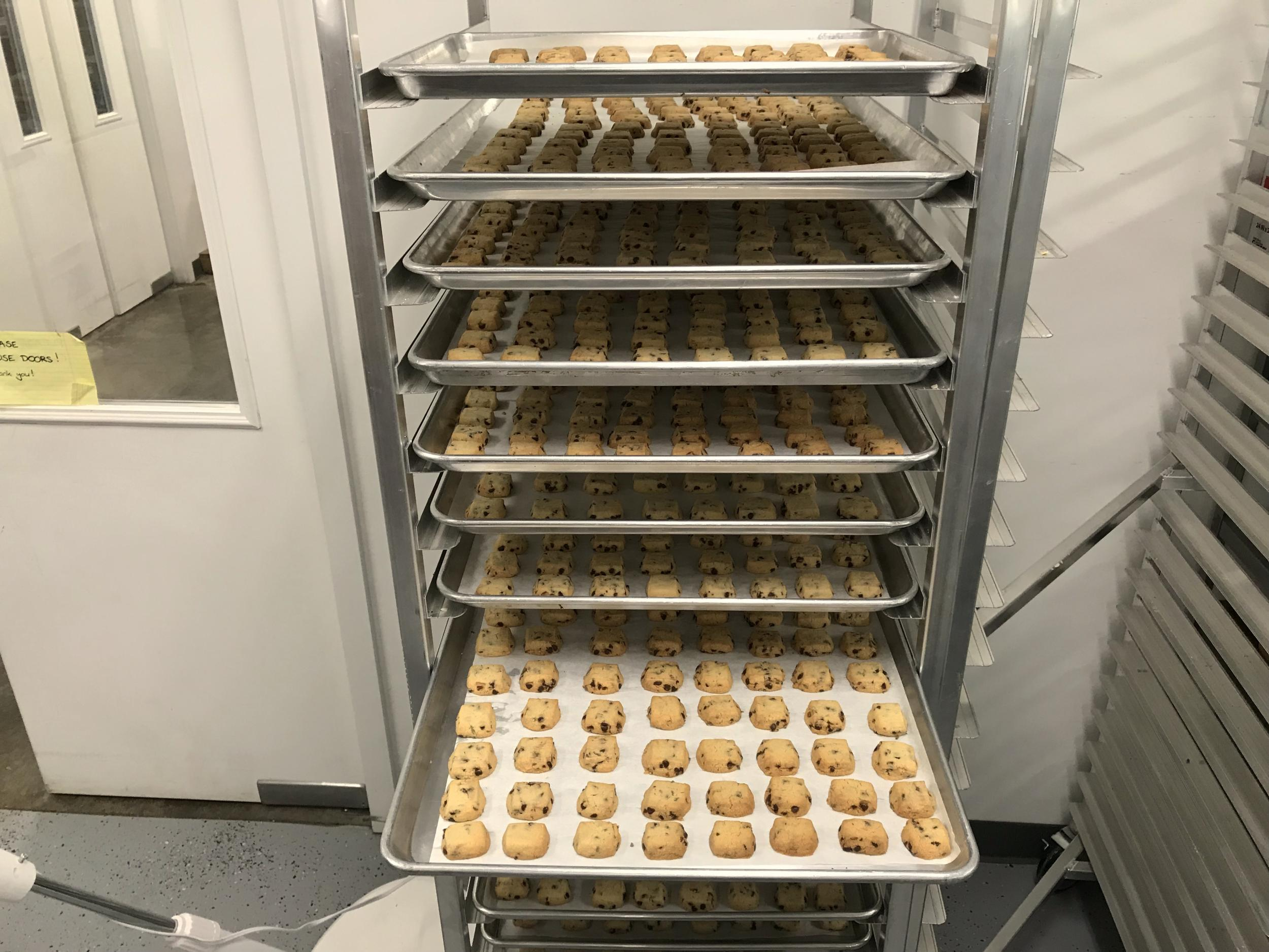 Freshly baked lavender cookies from Pelindaba's certified kitchen