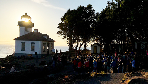 Lime Kiln State Park during the Annual Orca Sing