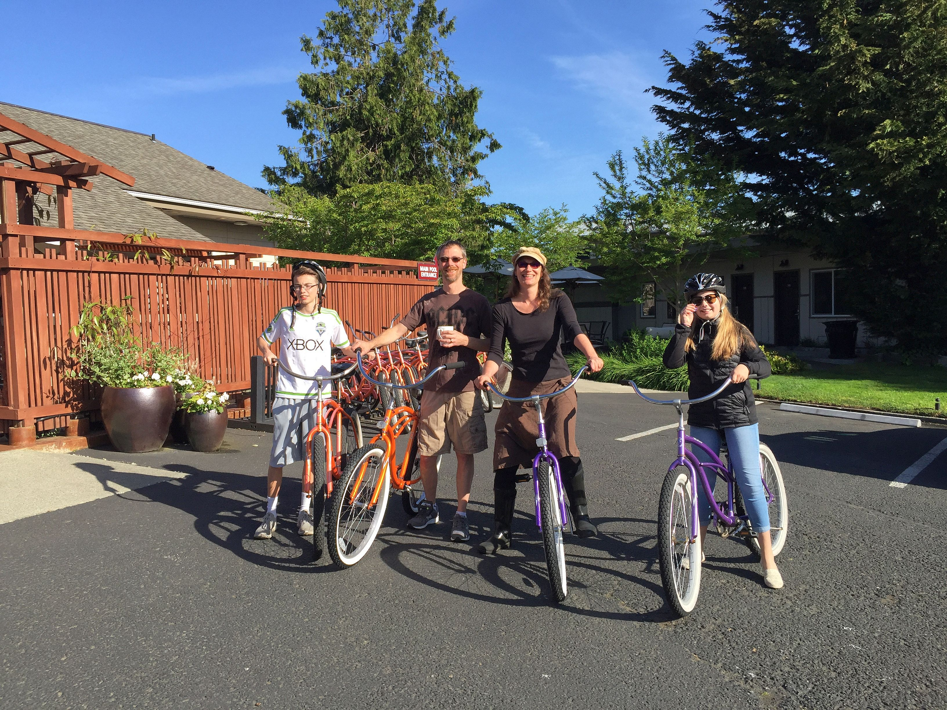 Beach Cruiser Bicycles on Friday Harbor
